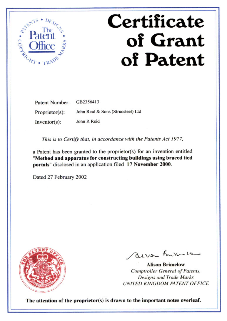 archspan-patent-certificate