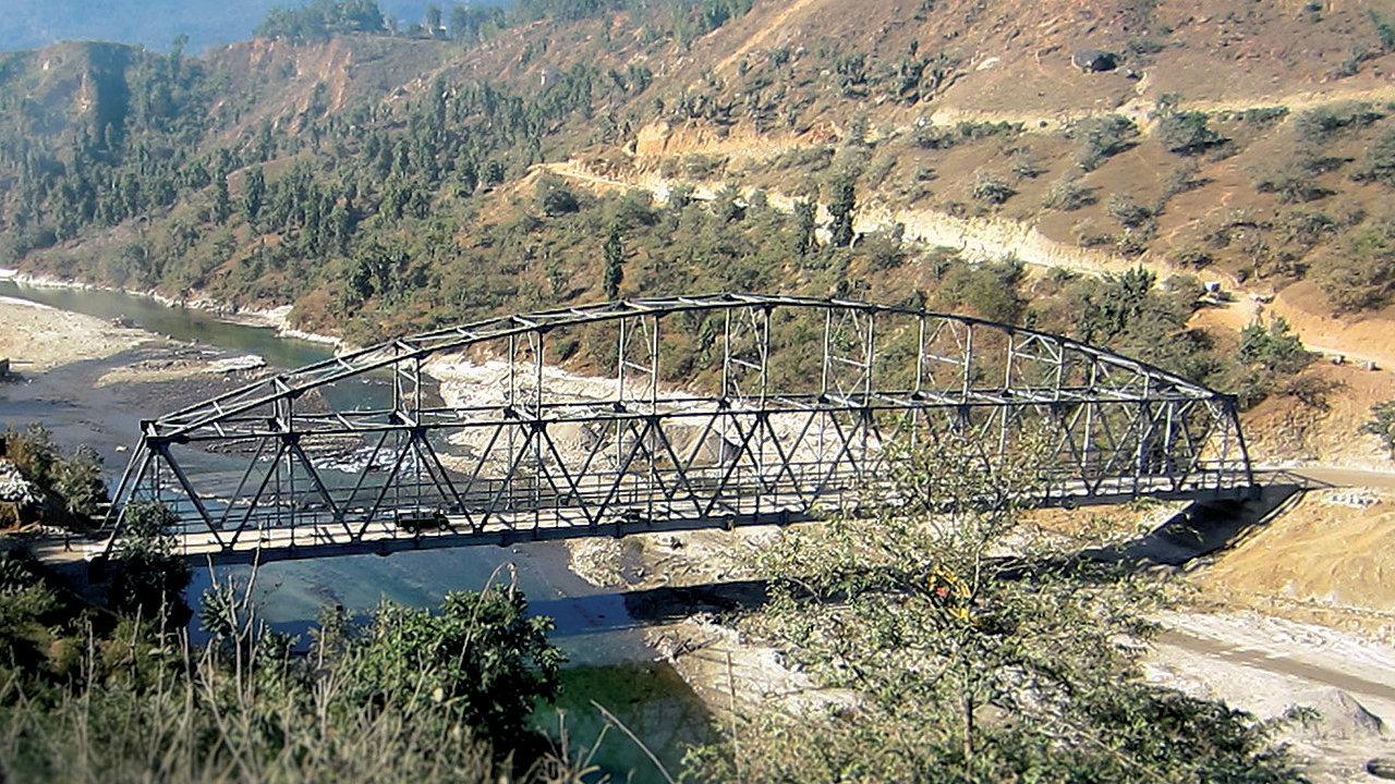 The completed Sabha Khola Bridge