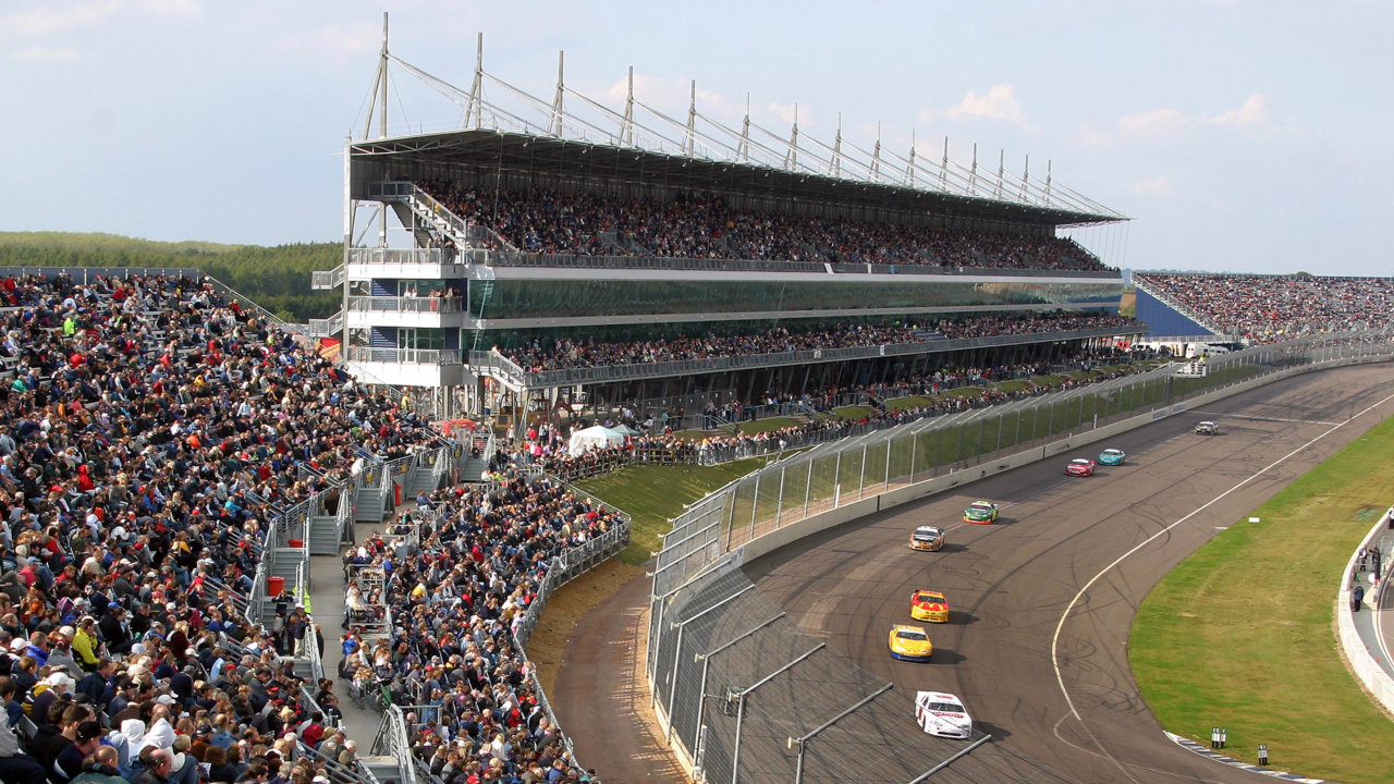 Rockingham Motor Speedway; 250 metre long main grandstand, hospitality and media centre.