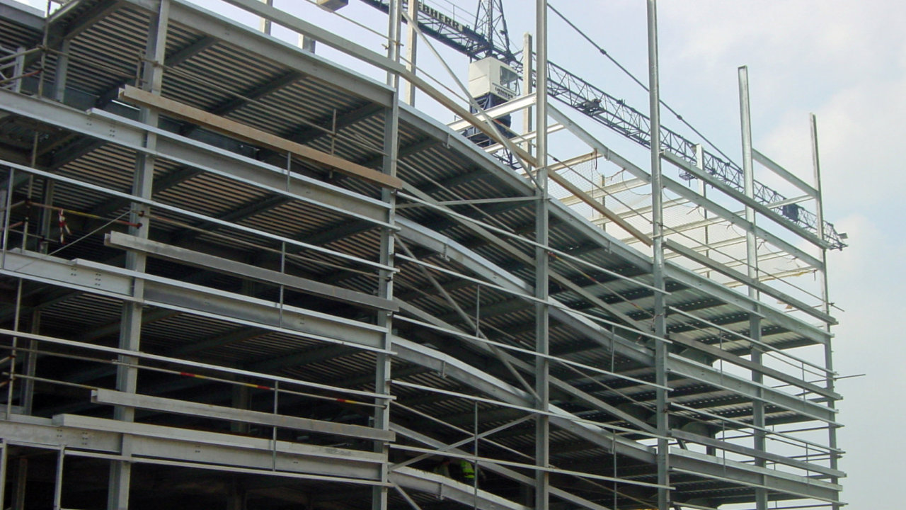 Steel framed multi storey car park design parking lot for Build best construction