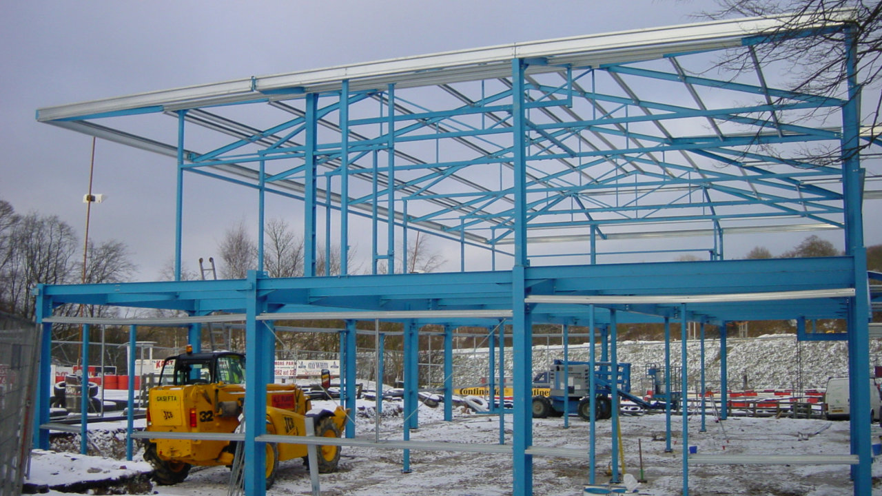 Buckmore Park Racetrack - commercial-steel-building-example02a
