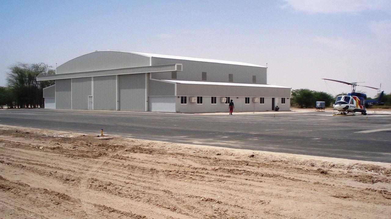 32 metre clear span hangar for Malta Aircraft Museum, Malta.