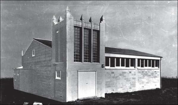 Small town church, designed, fabricated and exported to New Zealand in 1952