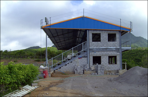 Small 500 seater football stand for Montserrat FA